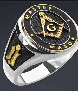 Anel maçon master1