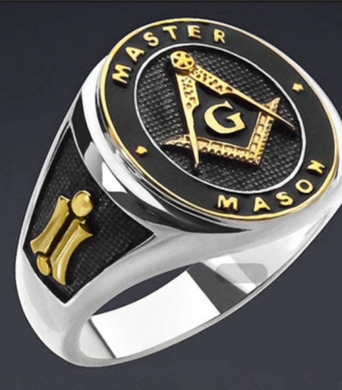 Anel Maçônico, Master Mason,  Aço Inoxidável
